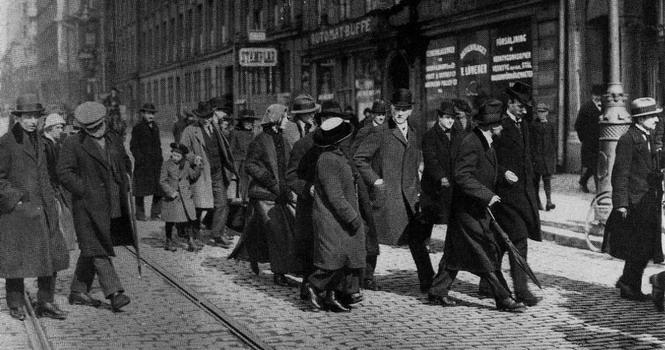 «Сторонники мира» в Стокгольме 13 апреля 1917 г.