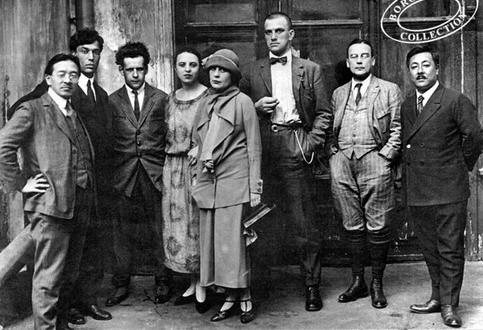 Третий справа – Эйзенштейн, в центре – Лиля Брик