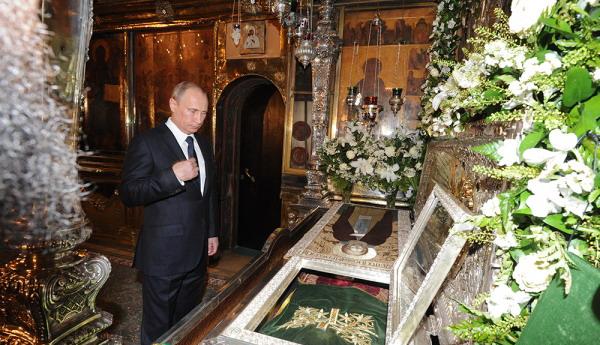18 июля Путин приложился к мощам преподобного Сергия Радонежского