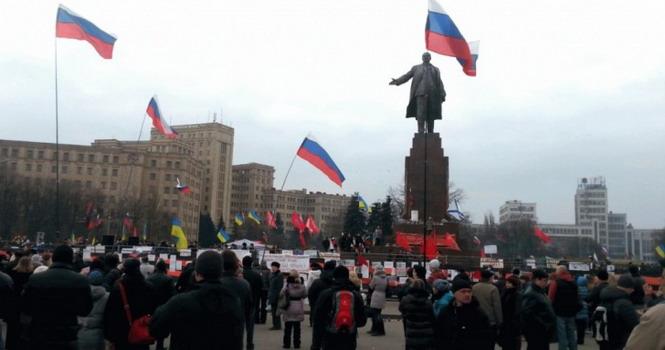 1 марта в Харькове у памятника Ленину