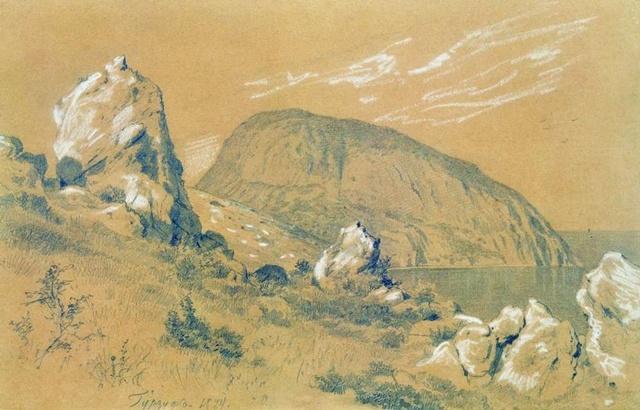 Гурзуф 1879 Бумага.белила,карандаш