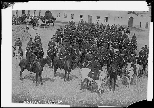 Австрийская кавалерия.