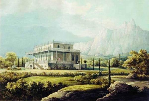 Вид дома Л.А. Нарышкина в Мисхоре