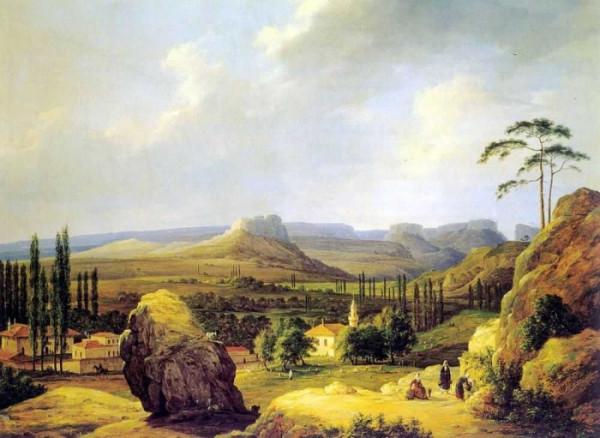 Вид Каралезской долины на южном берегу Крыма.