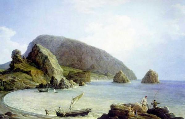 Вид на Аю-Даг в Крыму со стороны моря