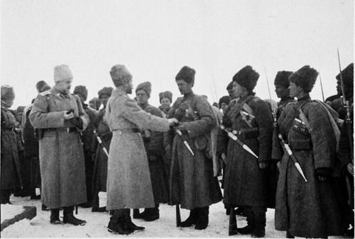 Вручение имп.Николаем наград казакам Кавказского фронта