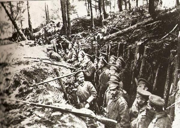 Позиции русской армии под Сарыкамышем
