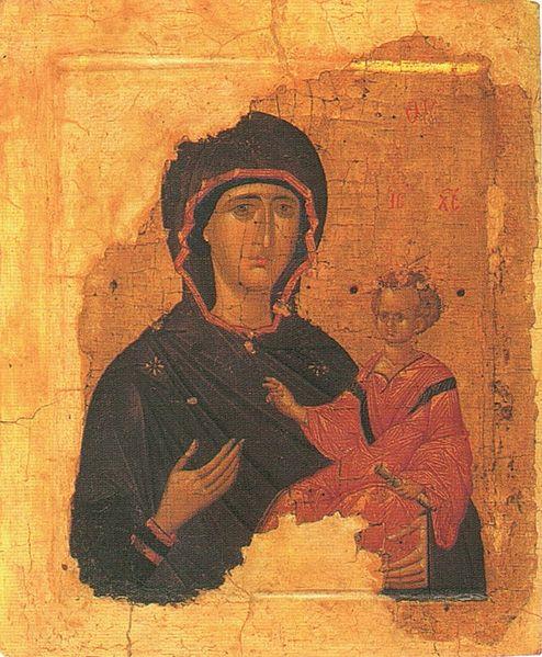 Богоматерь Одигитрия. Византия. 1-ая четверть XV в.
