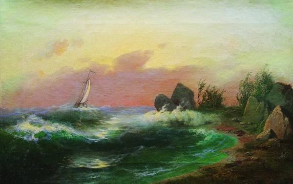 Морской пейзаж.1870-е