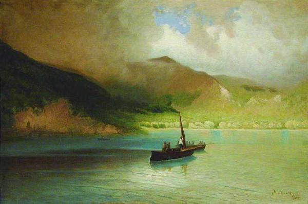 «Пейзаж с рыбацкими лодками»