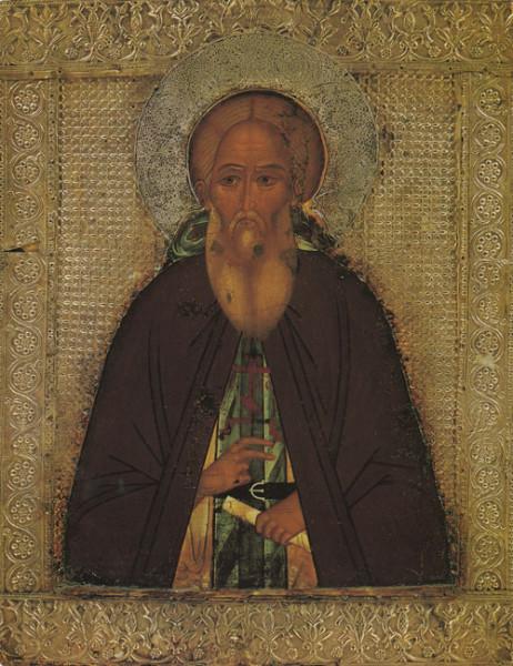 Преподобный Сергий Радонежский. Икона второй половины XVI века
