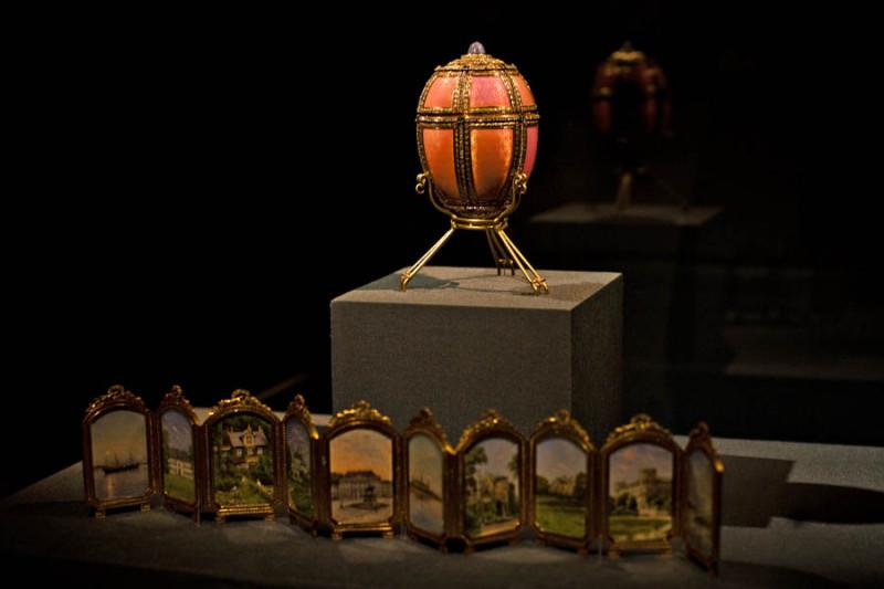 Яйцо Фаберже «Датские дворцы». Фаберже - Художественный музей Нового Орлеана