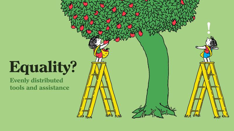 Равенство ли это?  Инструменты и помощь должны быть поровну распределены