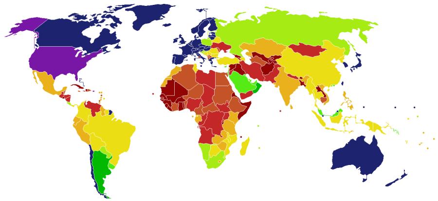 Статистика отказов в визах США за 2016 год
