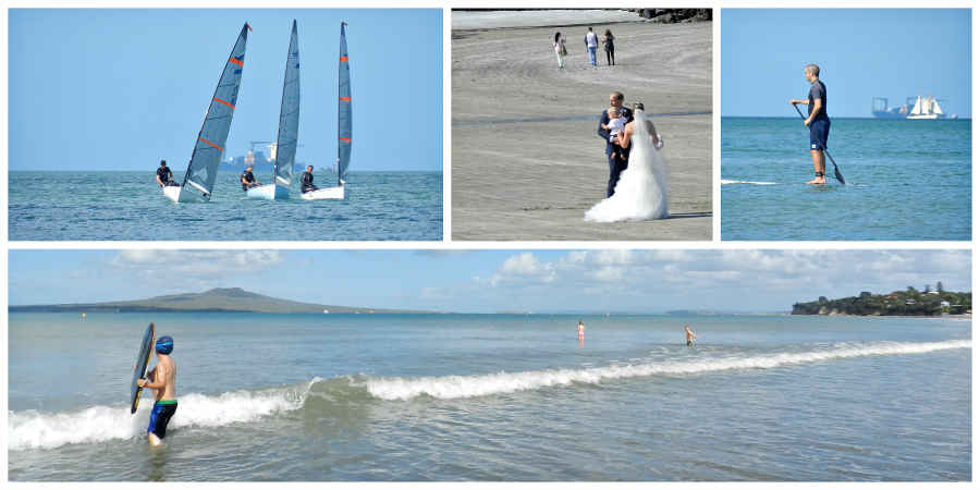 Busy Life Of Takapuna Beach