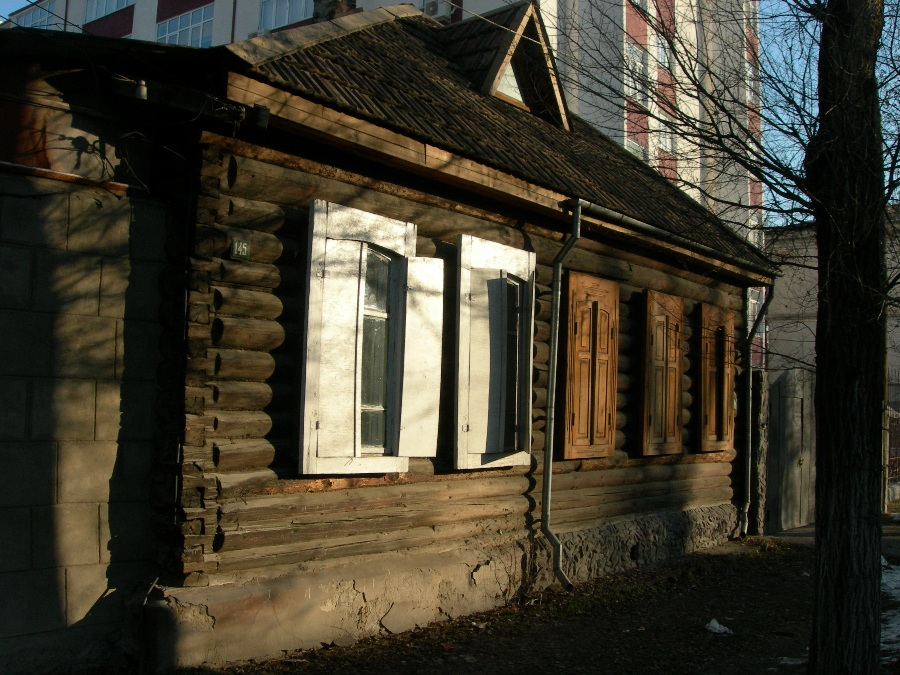 wooden house Moskovskaja