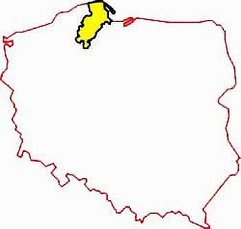 Кашубия на карте Польши 1