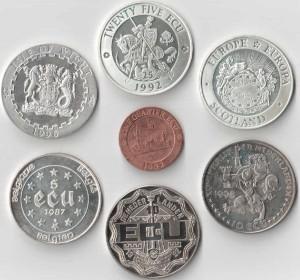 Unusual-coin-ECU-монеты-Экю-анъюжел
