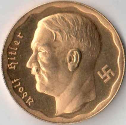 Монета адольф гитлер 1935 цена 500 вон
