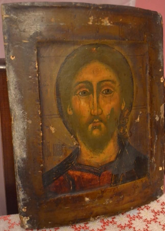 Икона-Иисус-двойной-ковчег-безопасность-антикварного-бизнеса