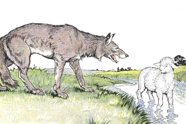 Волк+и+ягнёнок