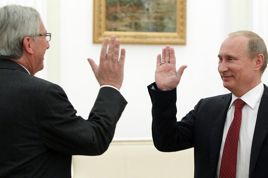 Путин юнкер