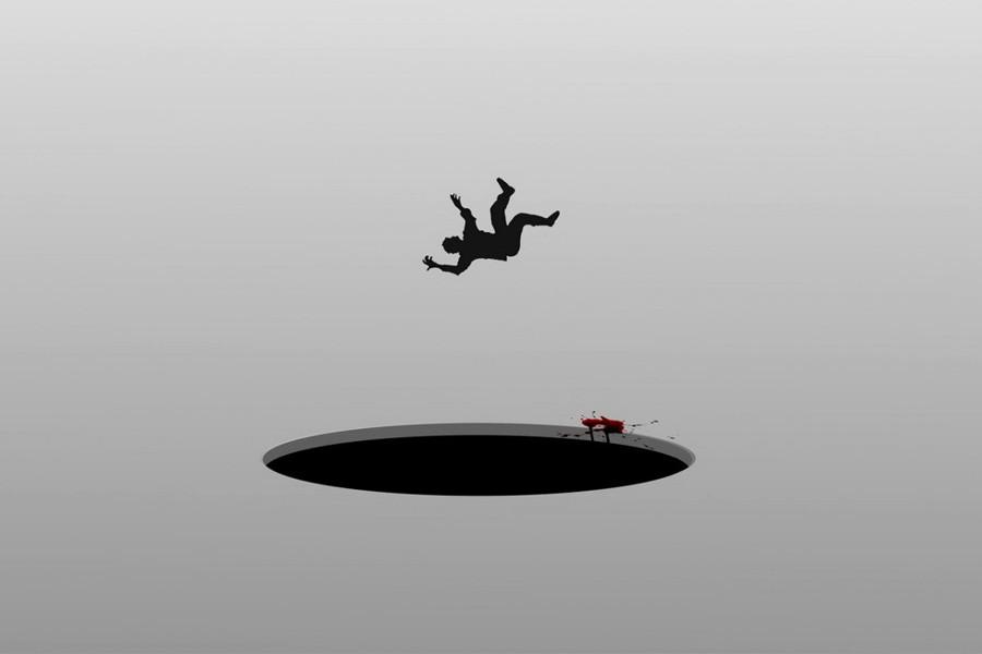падение