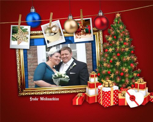 weihnachtskarte mit uns