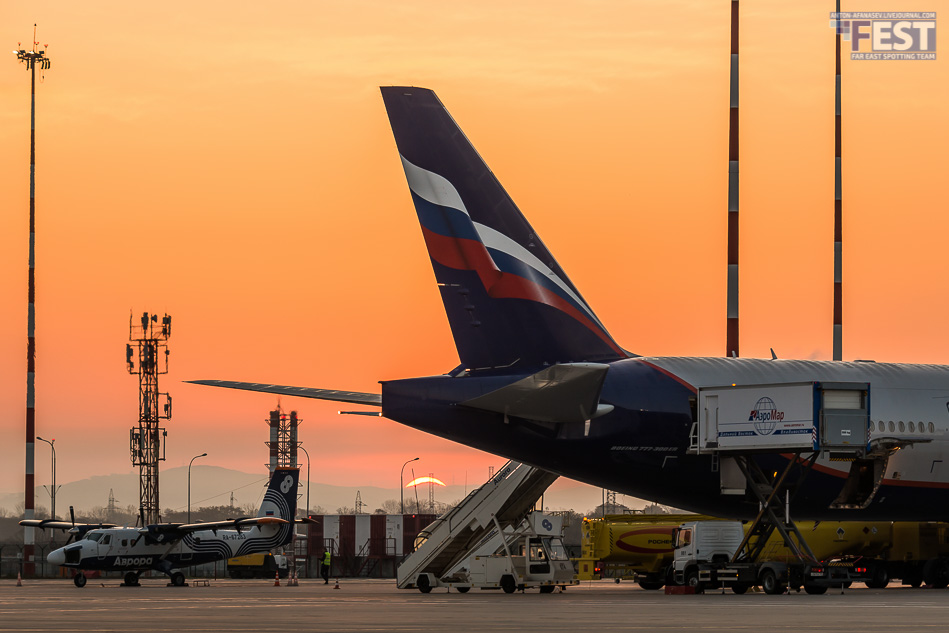 Перрон аэропорта Владивосток