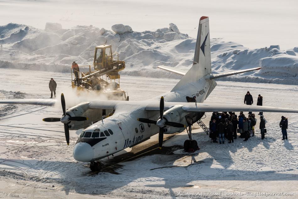 де-айсинг самолета