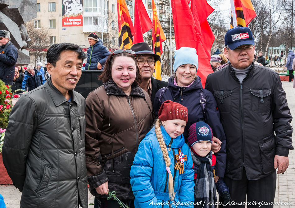 День Победы в Магадане