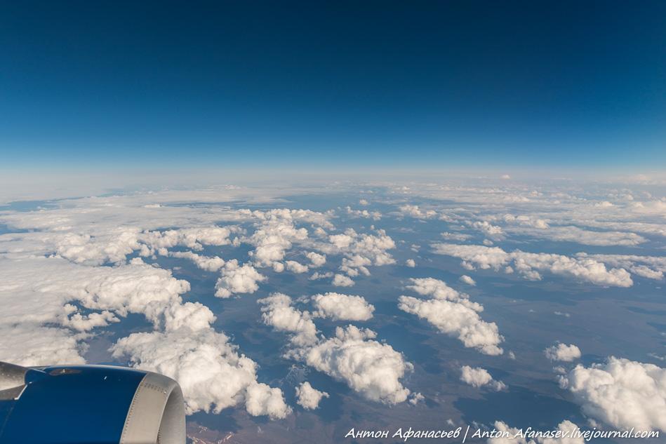 Небо с самолета