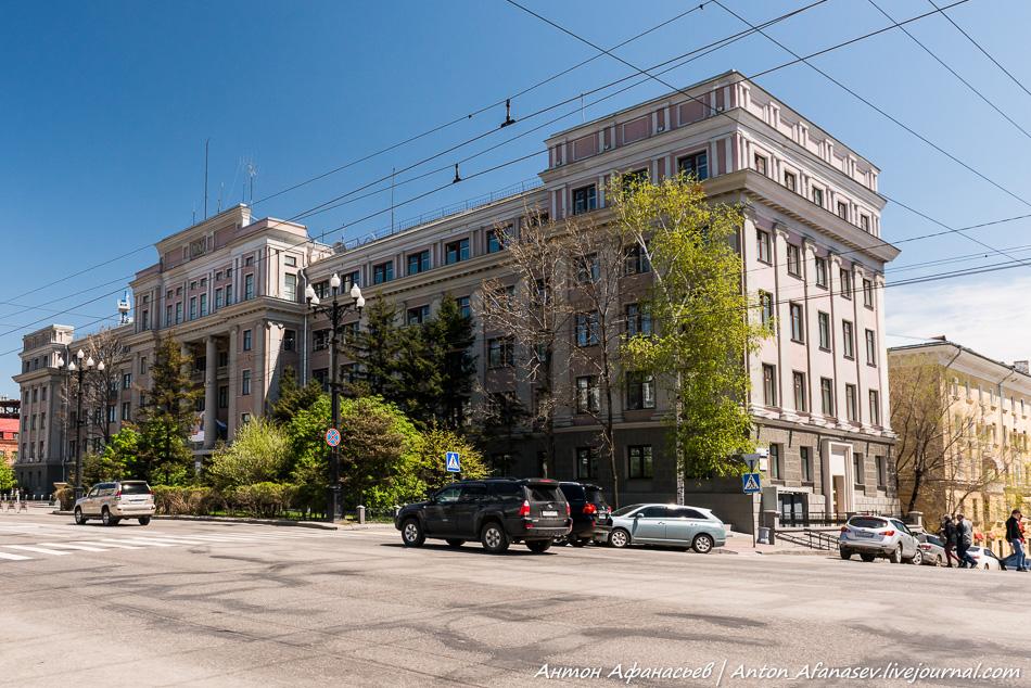 Здание Управления Дальневосточной железной дороги, построено в 1941 году.