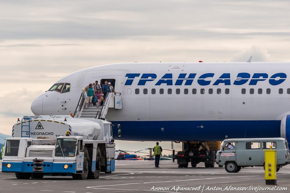 Самолет авиакомпании Трансаэро