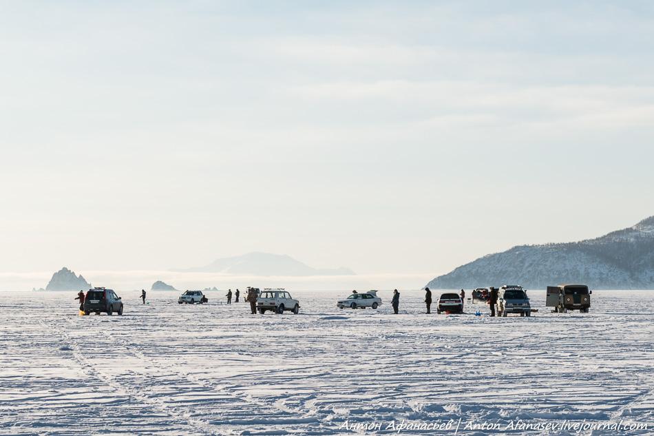 Бухта Гертнера, Охотское море, зима (Магадан)