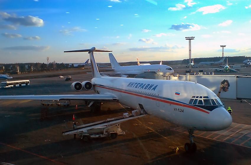 Ил-62 в аэропорту Домодедово