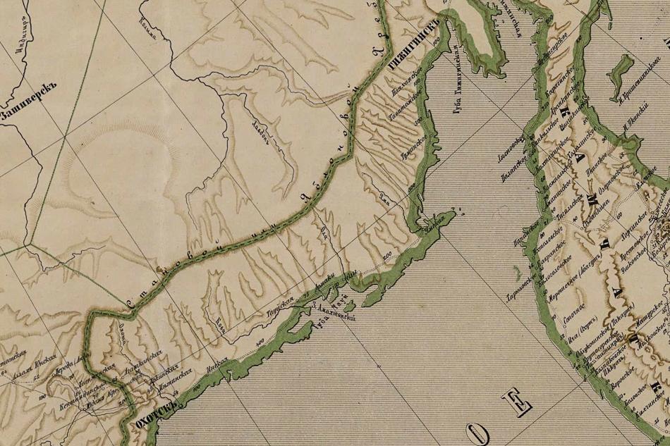 Почтовая карта азиатской России 1871 год