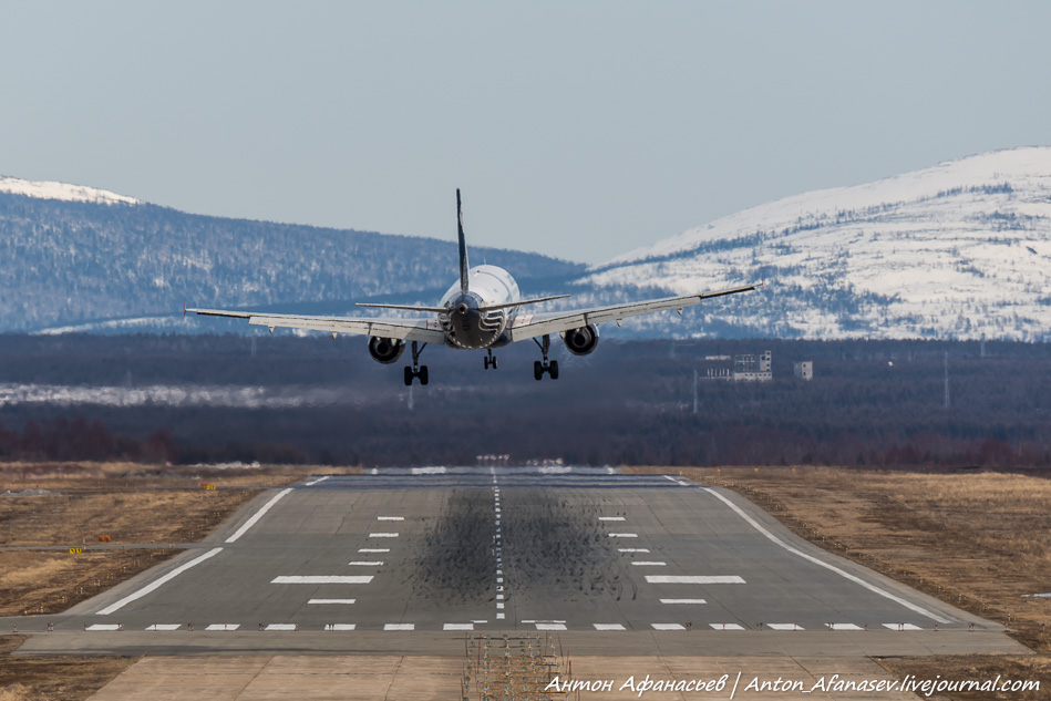 Споттинг аэропорт Сокол (Магадан)