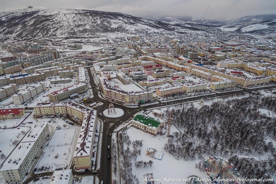 Магадан. Центр. Квадрокоптер
