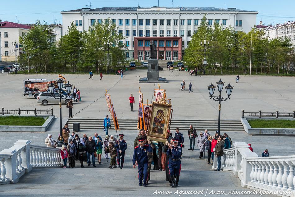 Большая Россия - гуманитарный автопробег НОД Магадан