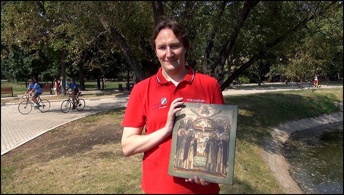 Антон Агеев с иконой Собор Восьми Белозерских чудотворцев
