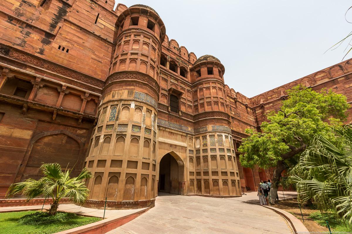 Короткая остановка в Индии. Красный форт Агры