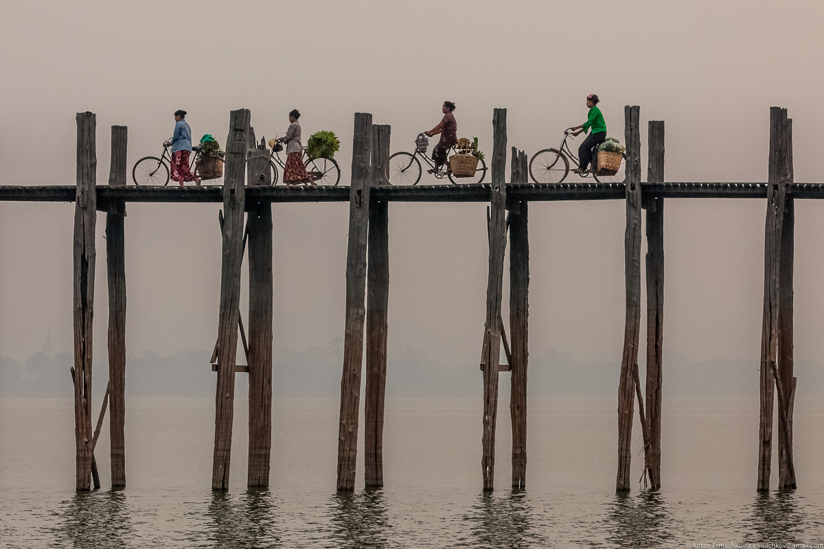 Бирма. Мост U Bein