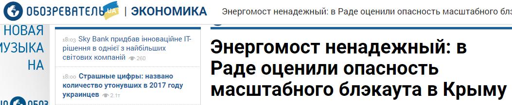 Украинский «Обозреватель» вновь попался на фейке про Крым