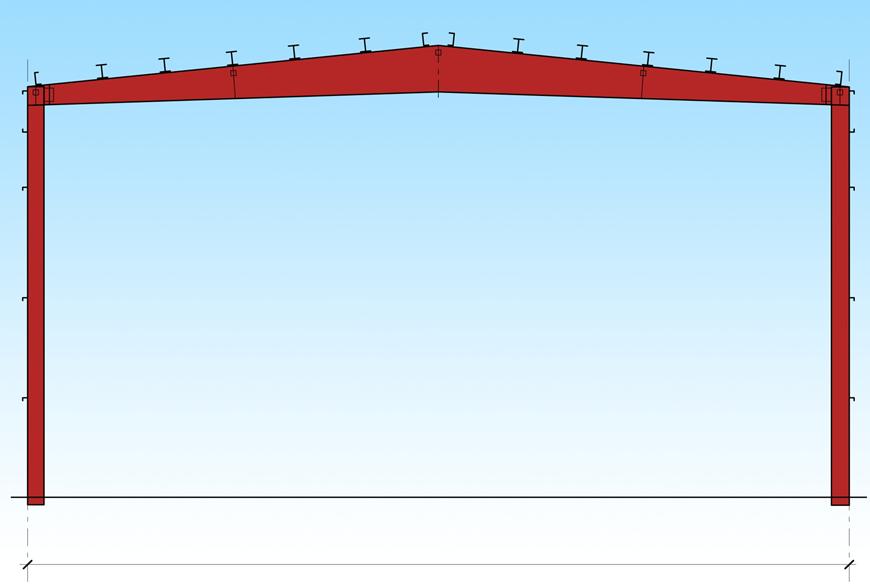 Однопролётная схема здания из ЛМК
