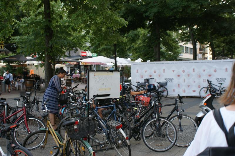 В городе распространено использование велосипедов