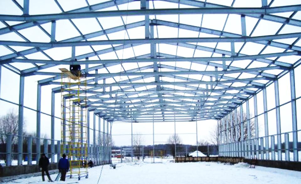 Пример решения производственного здания с каркасом из Оцинкованного профиля