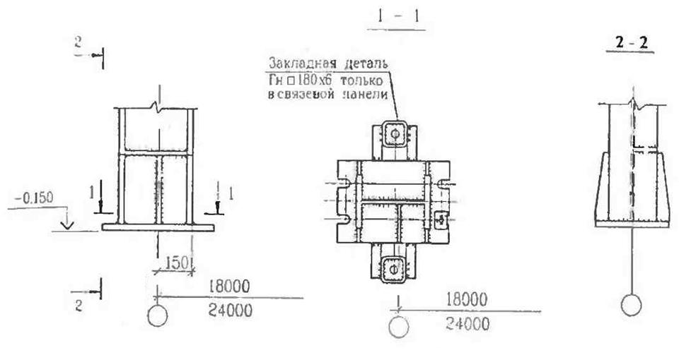 Базы колонн в каркасах типа «канск»