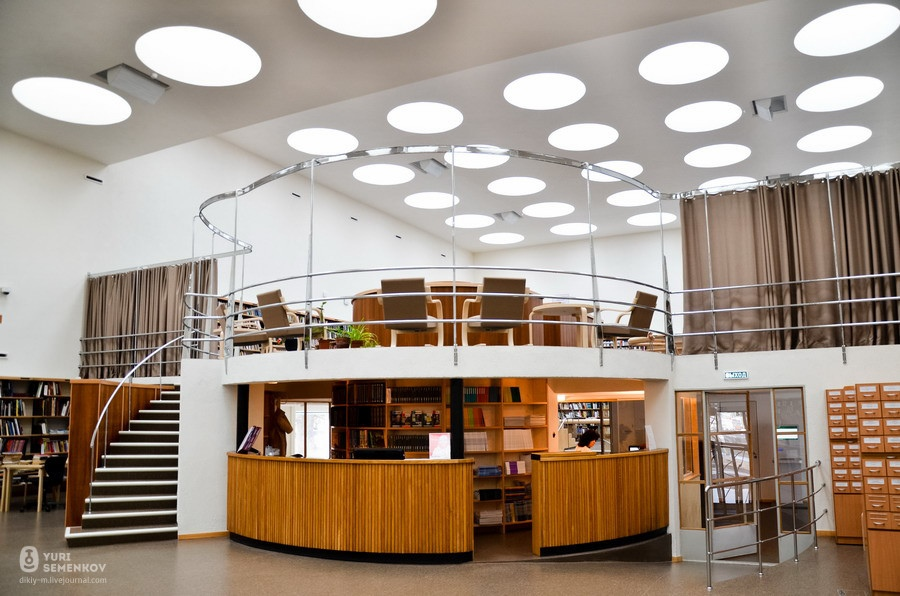 Библиотека Выборга.  Читальный зал