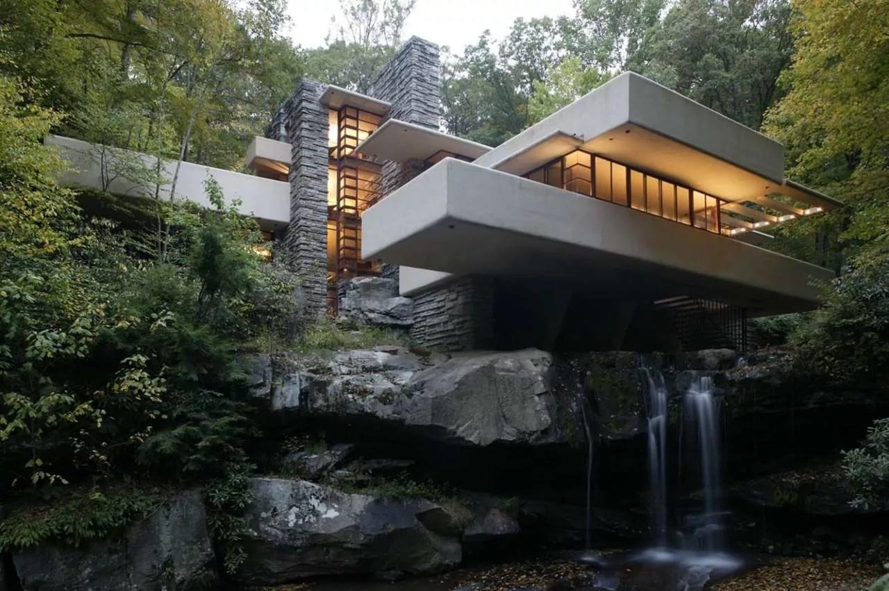 Дом над водопадом. Год постройки - 1936